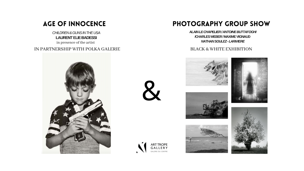 Exhibition 'Black & White' and 'Age of Innocence' by Art Trope Gallery